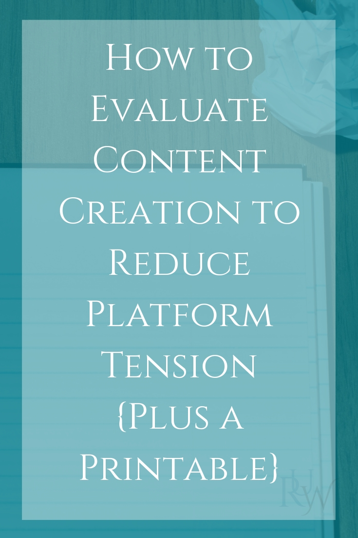 How to Evaluate Content Creation to Reduce Platform Tension